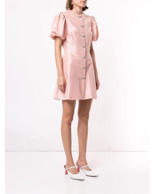 Macgraw Sorbet デコラティブボタン ドレス Pink