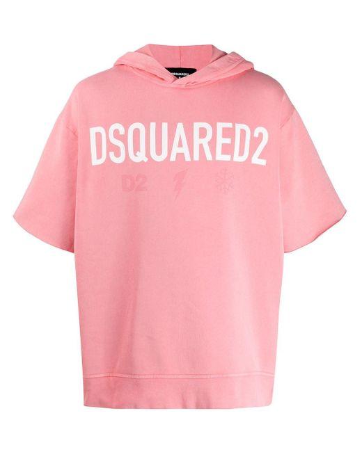 メンズ DSquared² ショートスリーブ パーカー Pink