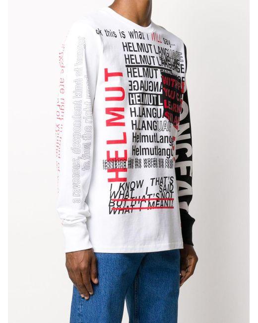 メンズ Helmut Lang プリント Tシャツ White