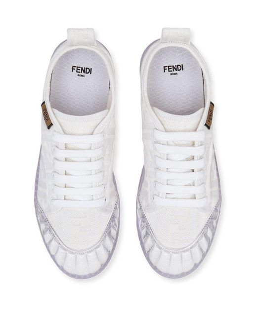 Кроссовки С Узором Ff Fendi, цвет: White