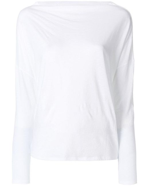 Vince | White Boat Neck Top | Lyst