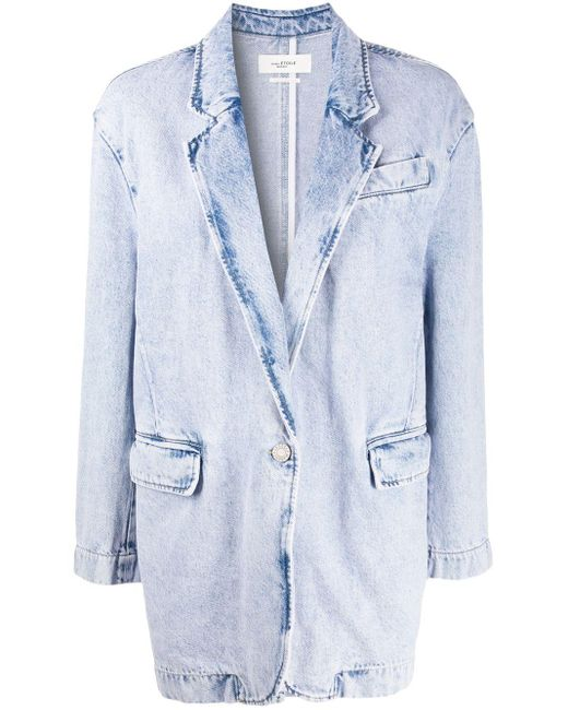 Étoile Isabel Marant オーバーサイズ デニムジャケット Blue