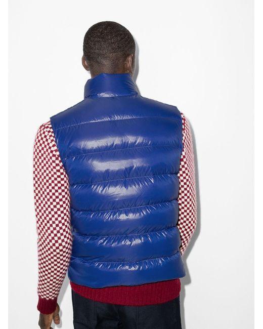 Дутый Жилет Moncler для него, цвет: Blue