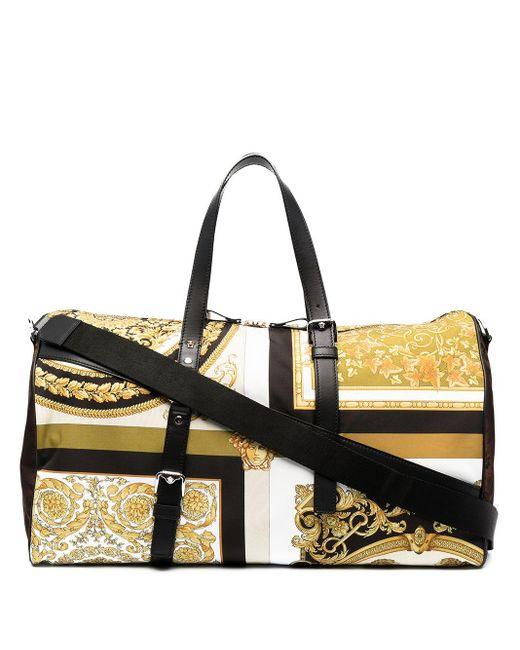 Дорожная Сумка С Принтом Baroque Versace для него, цвет: Yellow