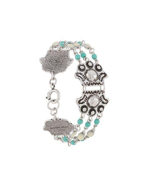 Bracelet à détails de perles Isabel Marant en coloris Metallic
