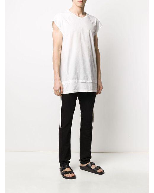 メンズ Andrea Ya'aqov レイヤード Tシャツ White