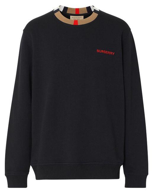 Burberry Katoenen Sweater in het Black voor heren