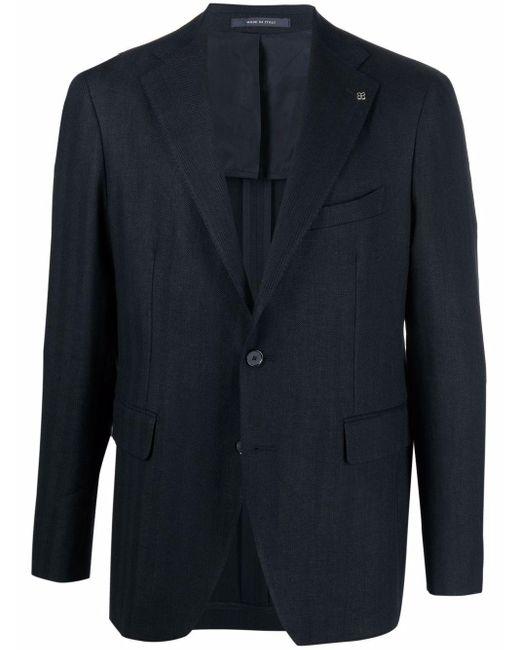 メンズ Tagliatore テーラード シングルジャケット Blue