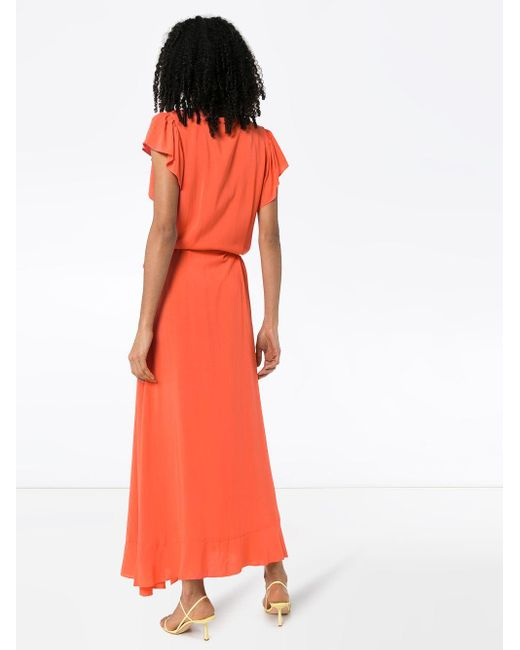 Melissa Odabash Brianna ラップマキシドレス Orange