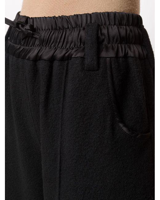 Andrea Ya'aqov ワイドニットパンツ Black