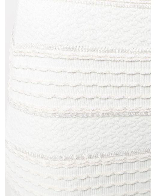 Юбка С Завышенной Талией И Оборками Alexander McQueen, цвет: White