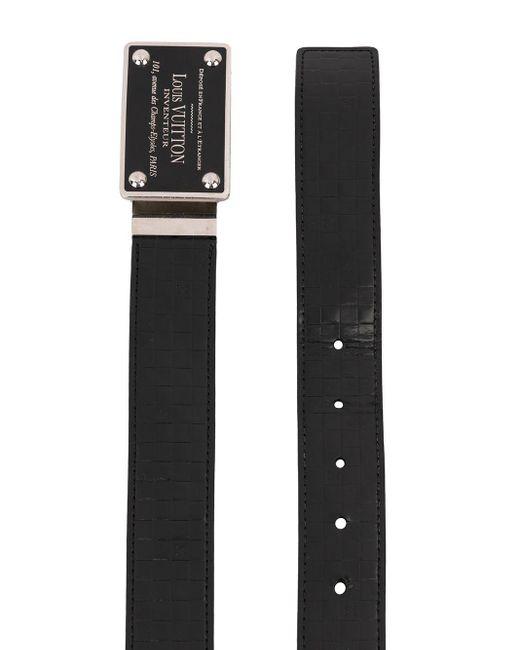 Ремень Inventeur Pre-owned Louis Vuitton, цвет: Black