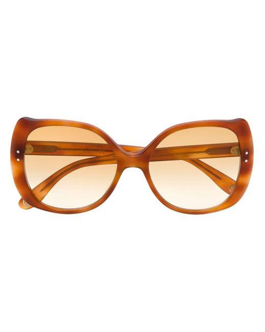 Gucci ラウンド眼鏡フレーム Brown
