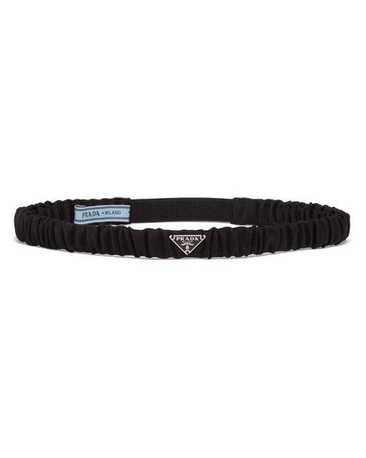 Prada Re-nylon ロゴ ヘアバンド Black