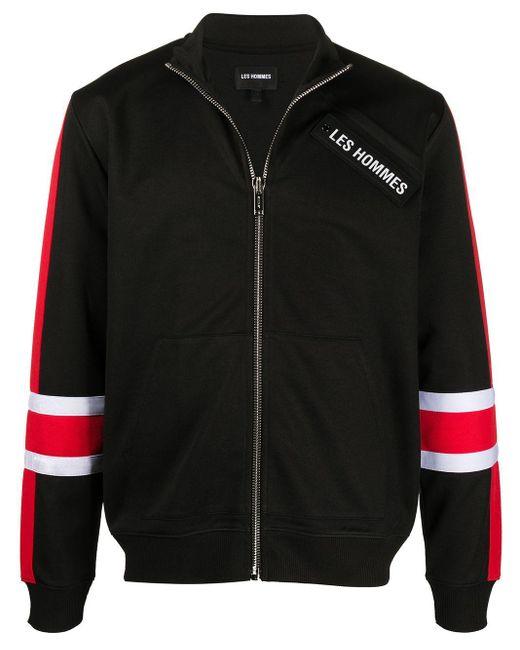メンズ Les Hommes ロゴ ボンバージャケット Black