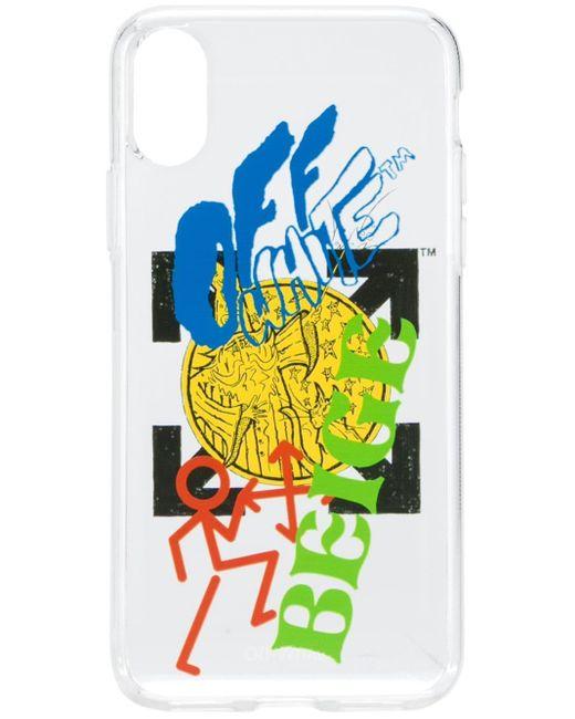 メンズ Off-White c/o Virgil Abloh ロゴ Iphone X ケース White