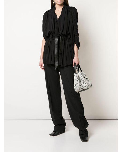 Присборенная Блузка С Драпировкой Proenza Schouler, цвет: Black