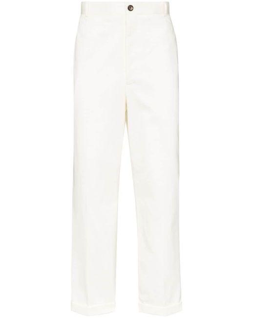 メンズ Thom Browne テーラードパンツ White