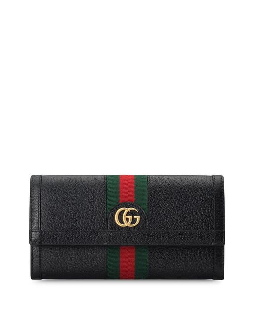 Gucci Black Ophidia GG Continental Wallet