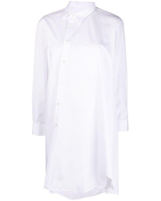 Camicia asimmetrica di Comme des Garçons in White