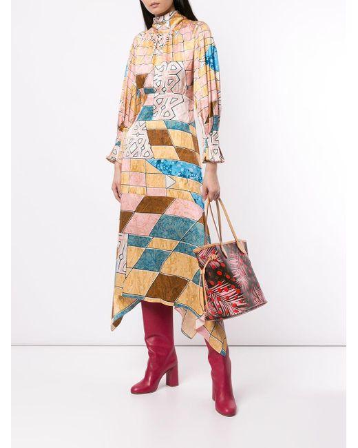 Bolso de mano Neverfull MM con motivo pre-owned Louis Vuitton de color Brown
