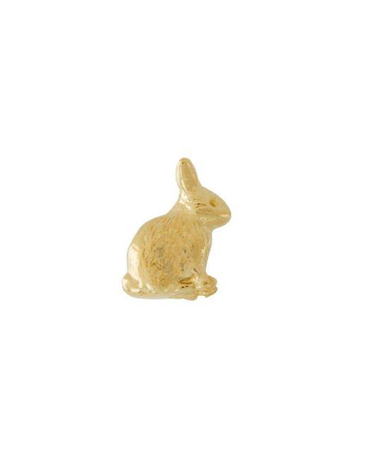 Alex Monroe Teeny Tiny Sitting Bunny ピアス 18kイエローゴールド Metallic