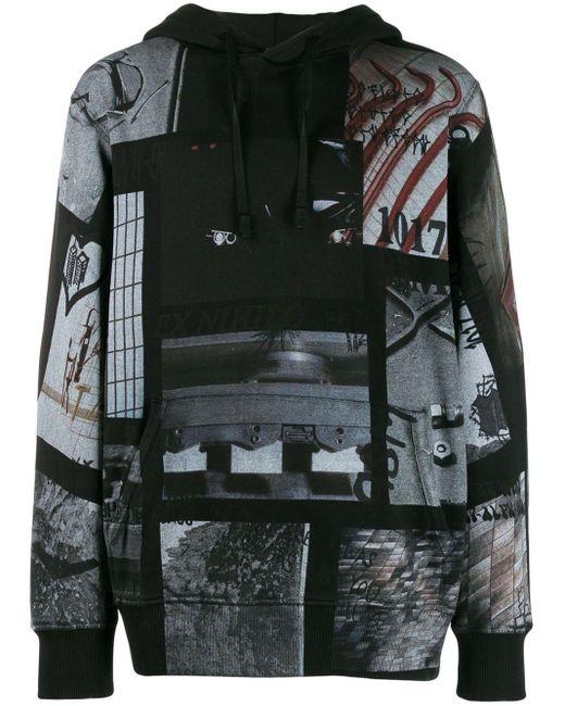 Pull a capuche noir All Over Print 1017 ALYX 9SM pour homme en coloris Black