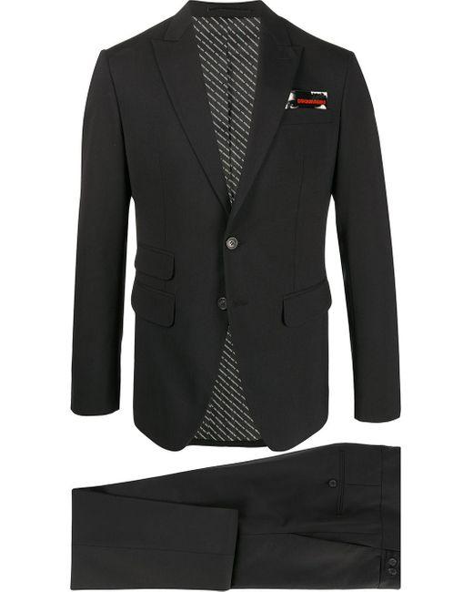 メンズ DSquared² シングル テーラードスーツ Black