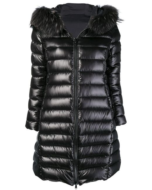 Tatras - Black Zipped Padded Coat - Lyst