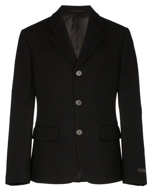メンズ Prada ノッチドラペル ジャケット Black