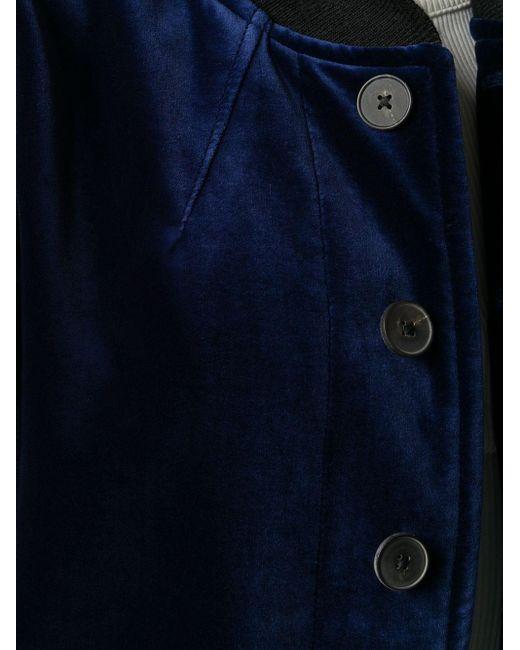 Haider Ackermann バイカラー ボンバージャケット Blue