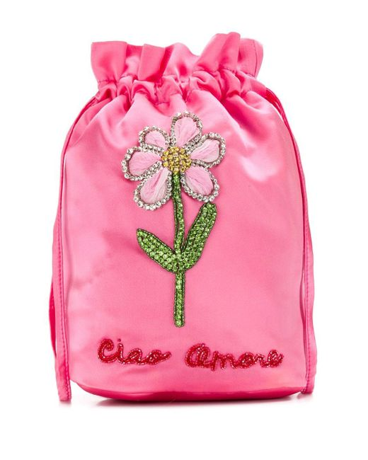 Giada Benincasa エンブロイダリー ミニバッグ Pink
