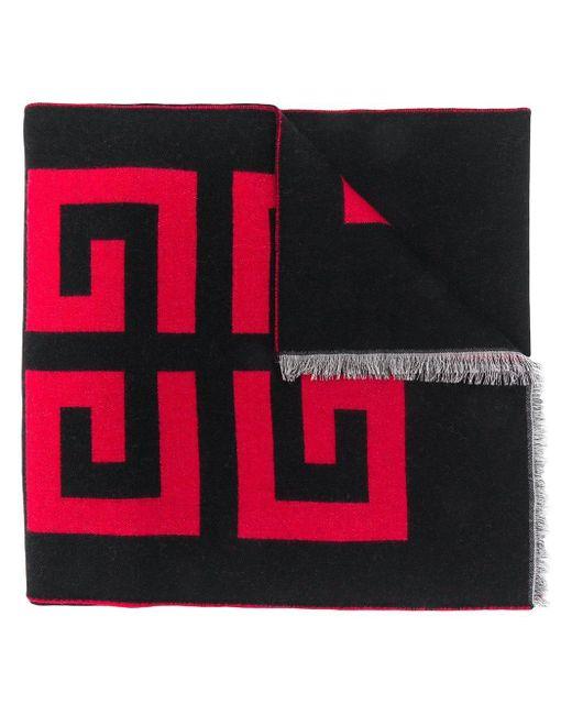 Bufanda con logo estampado Givenchy de hombre de color Black