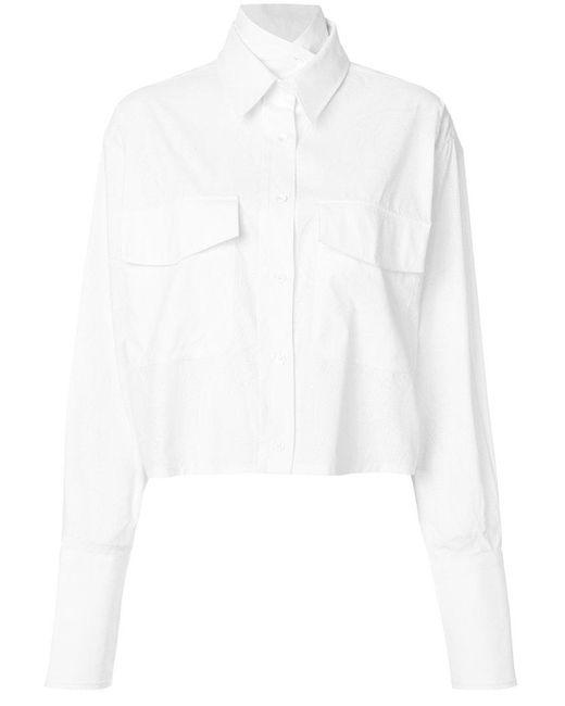 AALTO - White Boxy Pocket Shirt - Lyst