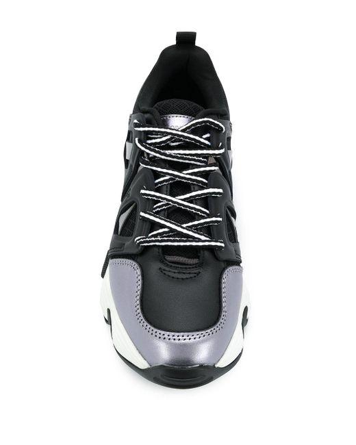 Кроссовки На Массивной Подошве Emporio Armani, цвет: Black