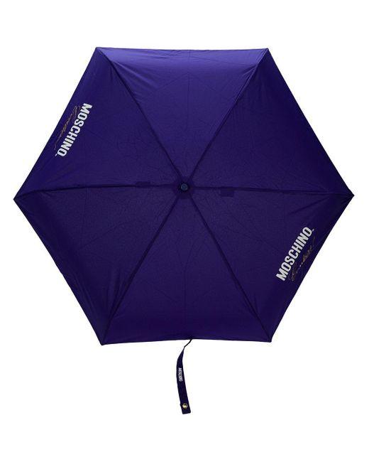 Зонт С Логотипом Moschino, цвет: Blue