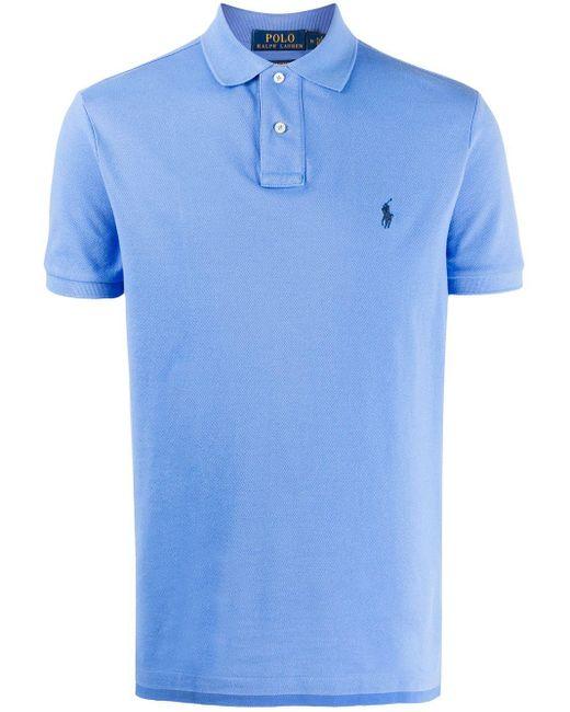 メンズ Polo Ralph Lauren ピケ ポロシャツ Blue