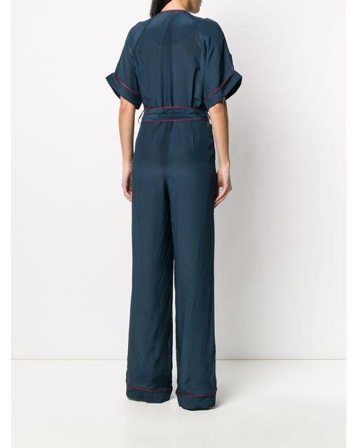 Fendi ベルテッド ジャンプスーツ Blue