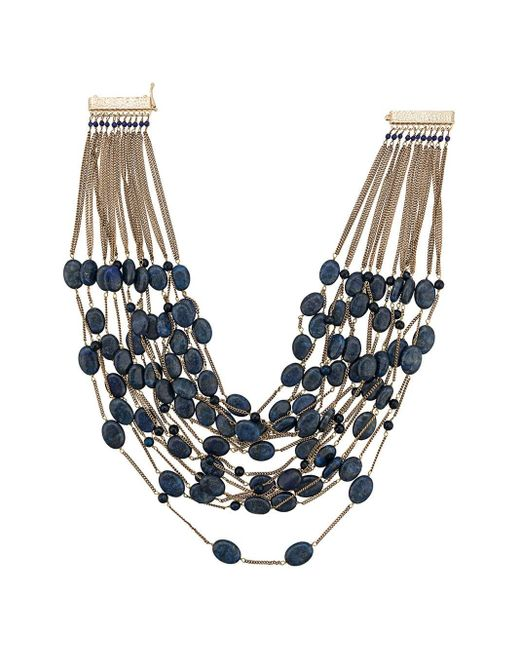 Rosantica レイヤード ネックレス Blue
