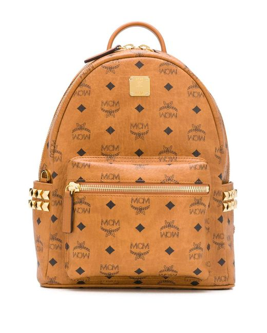 MCM Kaave ロゴ バックパック Brown