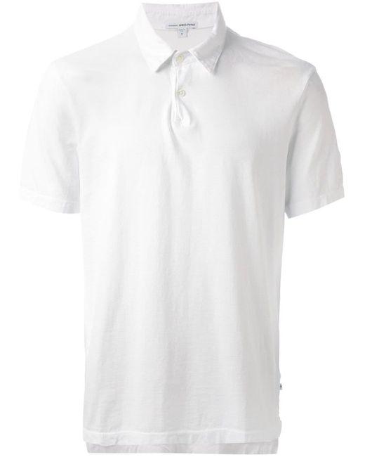メンズ James Perse クラシック ポロシャツ White