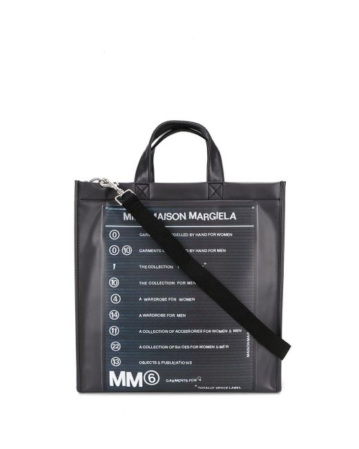 MM6 by Maison Martin Margiela ロゴ ハンドバッグ Black