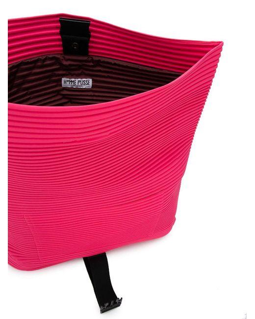 Плиссированная Сумка-мессенджер Homme Plissé Issey Miyake для него, цвет: Pink
