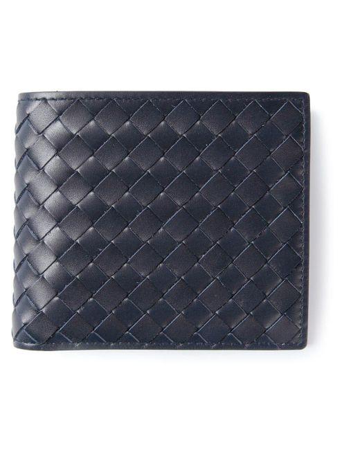 メンズ Bottega Veneta イントレチャート 折り財布 Blue