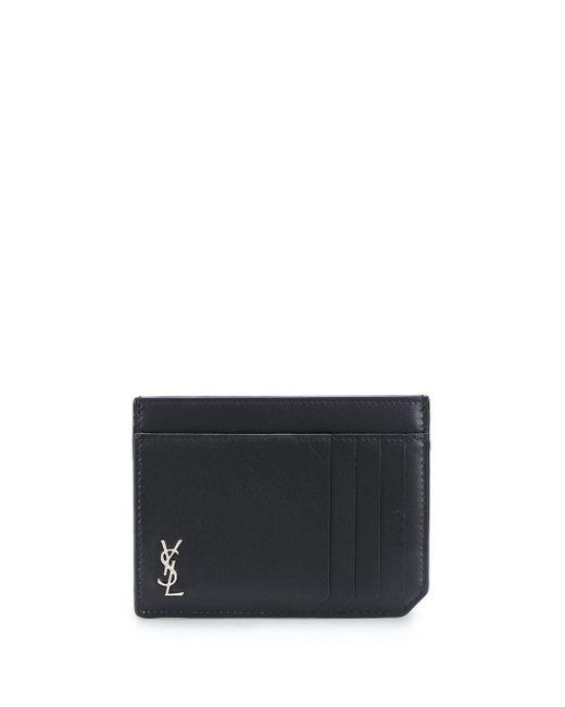 Картхолдер С Монограммой Saint Laurent для него, цвет: Black