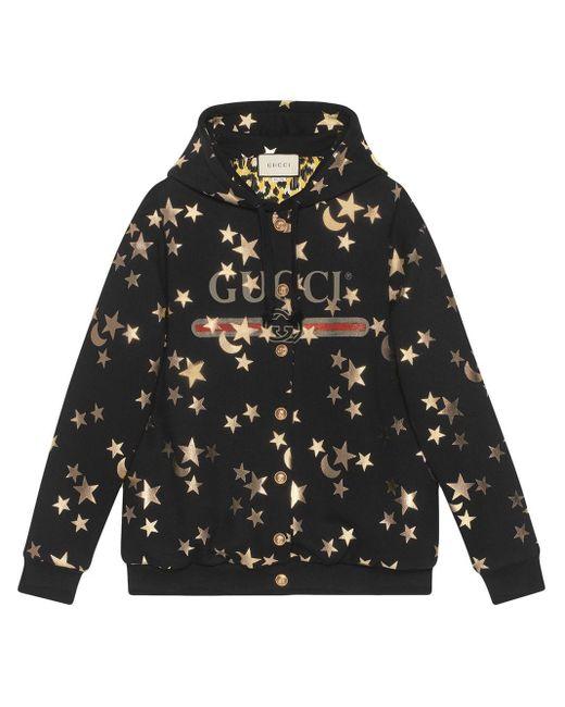 Худи С Принтом Gucci, цвет: Black