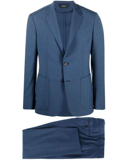 Z Zegna Blue Two-piece Wool Suit for men