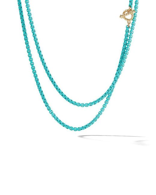 David Yurman - Multicolor 14kt Yellow Gold And Coloured Steel Dy Bel Aire Collection Necklace - Lyst