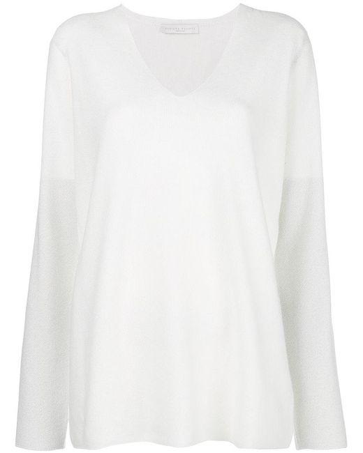 Fabiana Filippi - White V-neck Sweater - Lyst