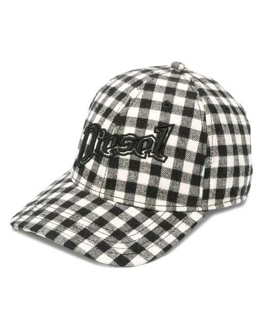 DIESEL Multicolor Check Baseball Cap With 3d Embroidery
